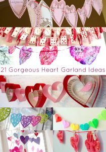 20 Valentine's Day Garland Ideas - Some for kids to make and others for adults. Love these heart garland ideas!