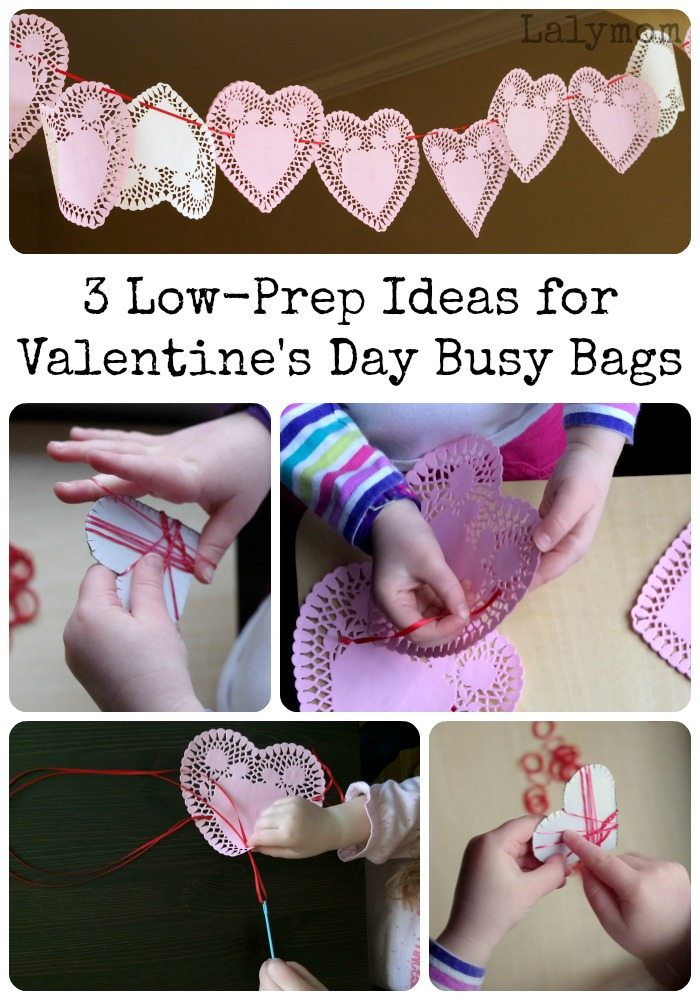 3 Low Prep Ideas for Valentines Day Busy Bags on Lalymom