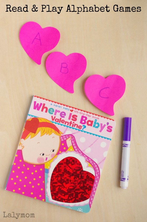 Alphabet Games to Play on Valentines Day - Goes great with Where is Baby's Valentine