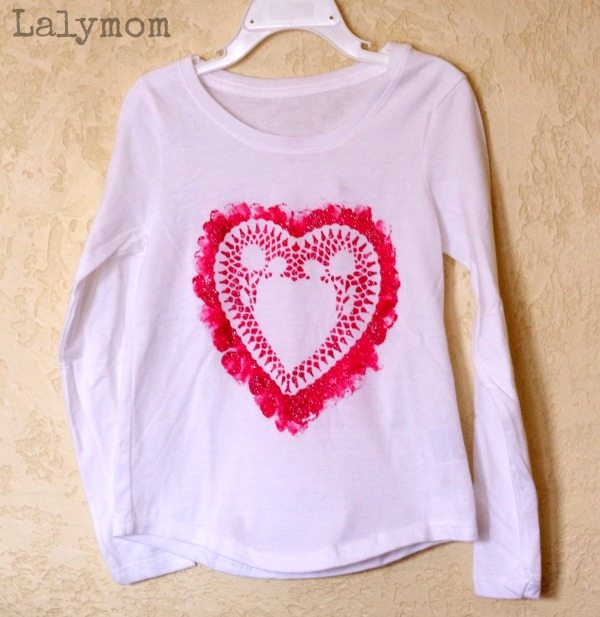 6542a945 DIY Valentines Day Shirts for Kids - LalyMom
