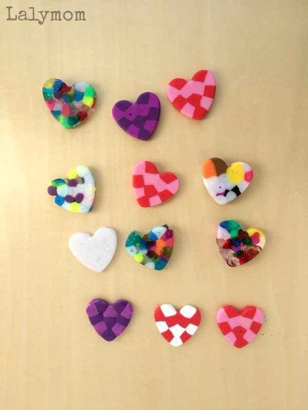 Easy Valentine's Day Magnets from Melty Beads Hearts - Perfect for Valentine's Day Gifts! You can even make them into sun catchers, tic tac toe games, etc.