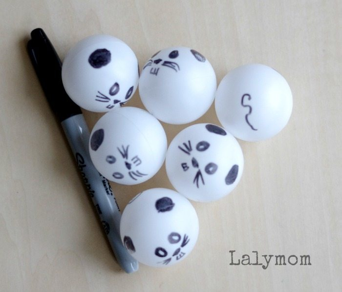 Mouse Count Ping Pong Balls on Lalymom - nFun Book Extension activity!