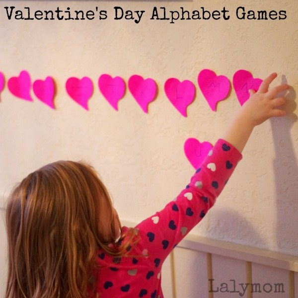 Valentine's Day Alphabet Games on Lalymom