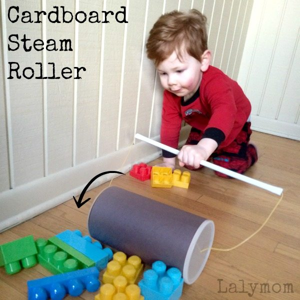 DIY Steamroller Toy - Easy Cardboard Construction Crafts for Kids