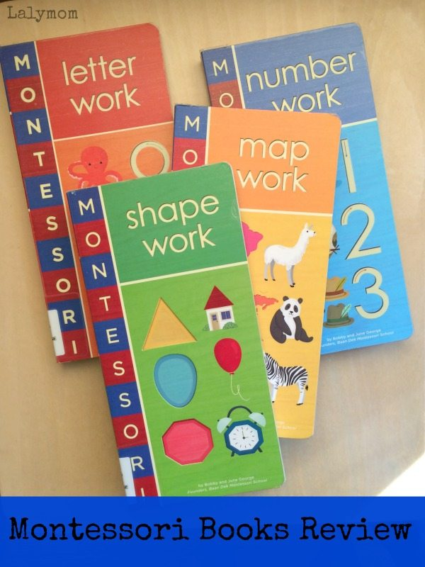 Montessori Books for Kids - Letter Work, Shape Work, Map Work and Number Work