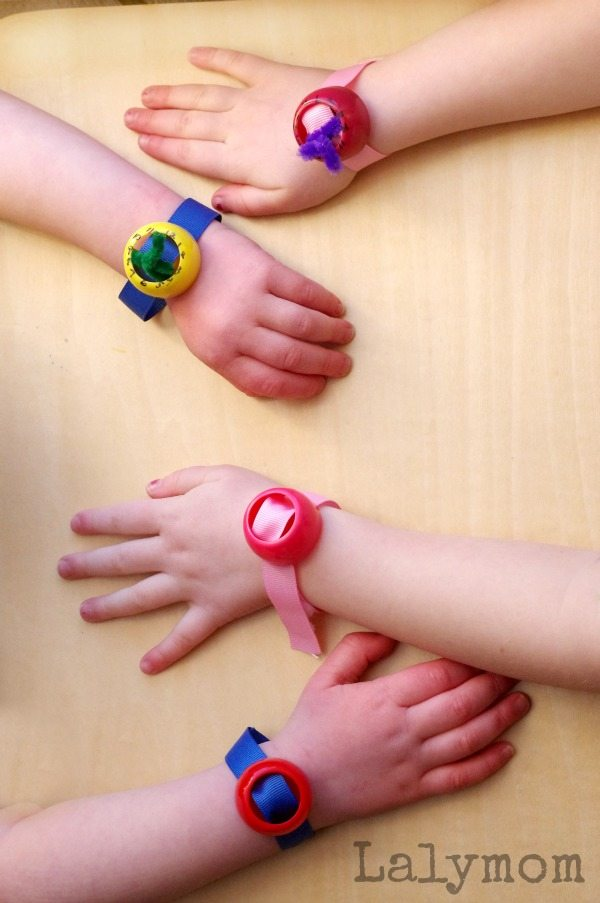 Upcycled Crafts - Pouch Cap Watches and Bracelets - Click through for the quick tutorial, how fun!