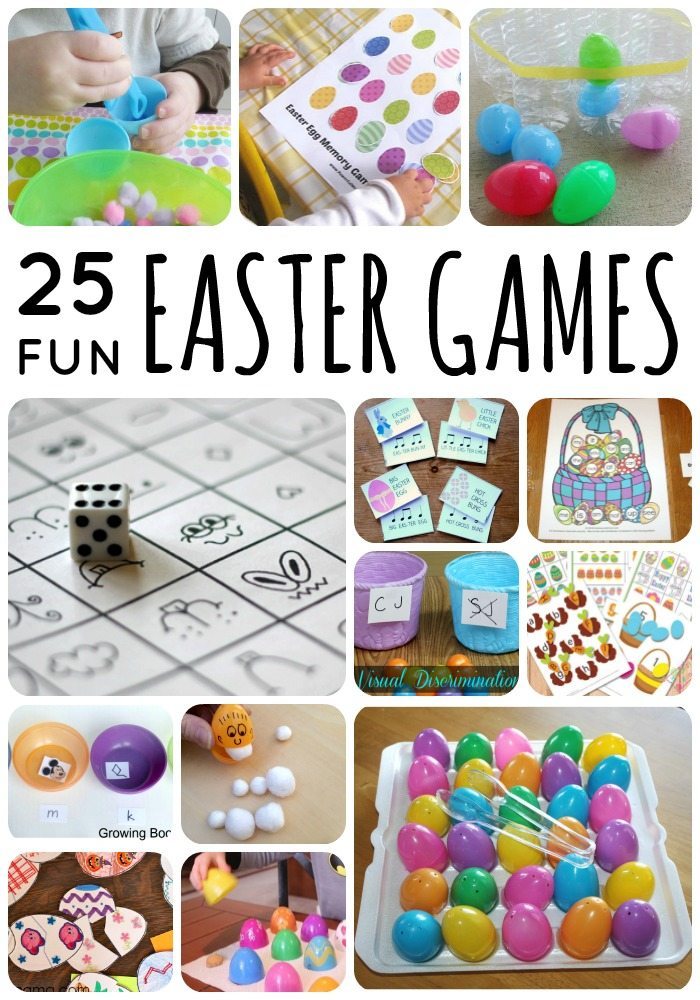 25 Fun Easter Games for toddlers and preschoolers on Lalymom #easter #games #eastergames #kids #activities #toddler #preschool #elementary #school #party