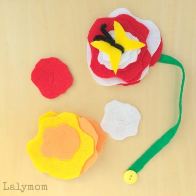 3 Flower Themed Busy Bags from Lalymom