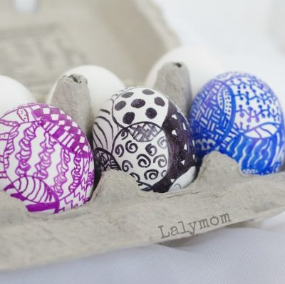 Easter Egg Ideas for Kids - Zegg-Tangle! Zentange Easter Eggs