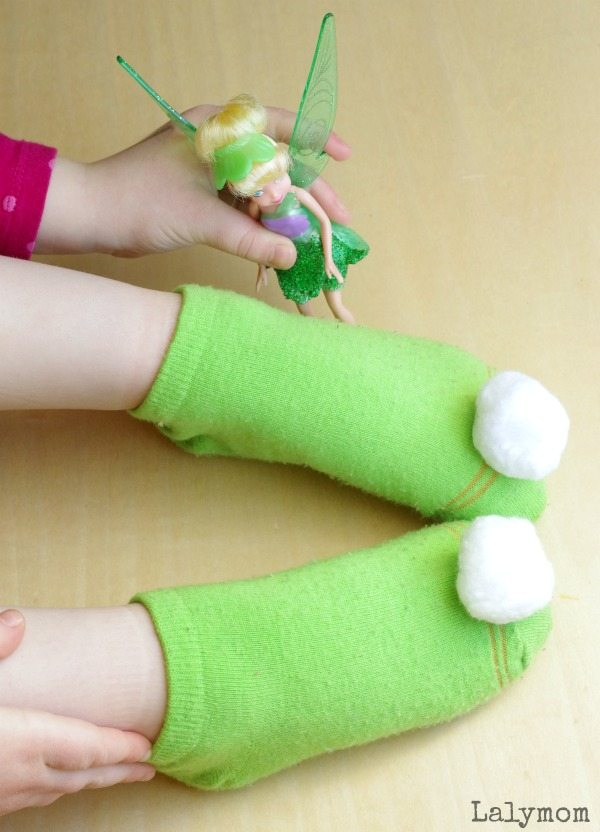 Easy DIY Tinker Bell Costumer Slippers #ad #collectivebias #TinkandNeverBeast