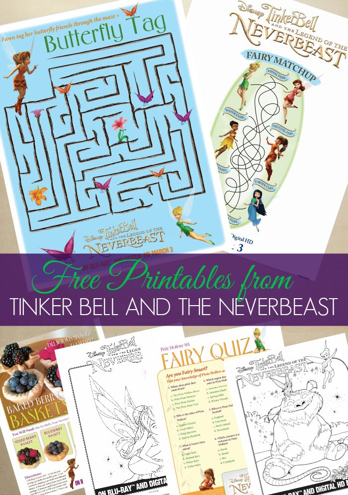 Free Printables from Tinker Bell and the Legend of the NeverBeast #collecivebias #ad #TinkandNeverBeast