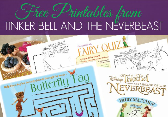 Tinker Bell Free Printables - Perfect to pair with Tinker Bell and the Legend of the NeverBeast #ad #collectivebias #TinkandNeverBeast