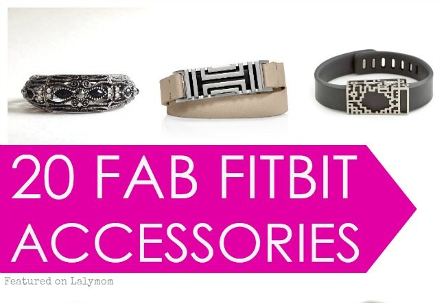 20 Stylish Ways to Dress up your FitBit - Great Fitbit Accessories featured on Lalymom