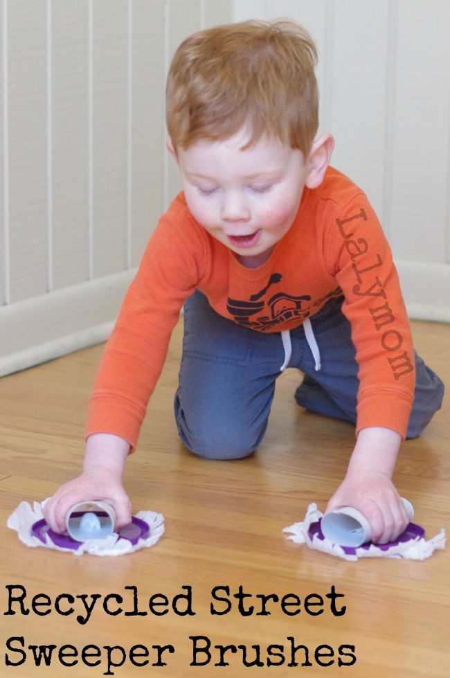 Recycled Crafts – Toy Street Sweeper Brushes