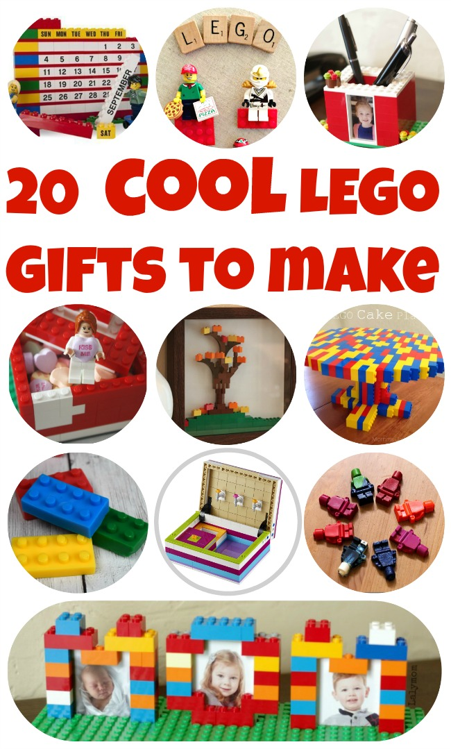 LEGO Week! 20 COOL LEGO Gifts to Make - Ideas for LEGO Birthdays, Mother's Day Gifts, Father's Day Gifts and More!  #LEGO #birthday #kids #mothersday #fathersday #gift #giftidea #DIY #craft #craftsforkids