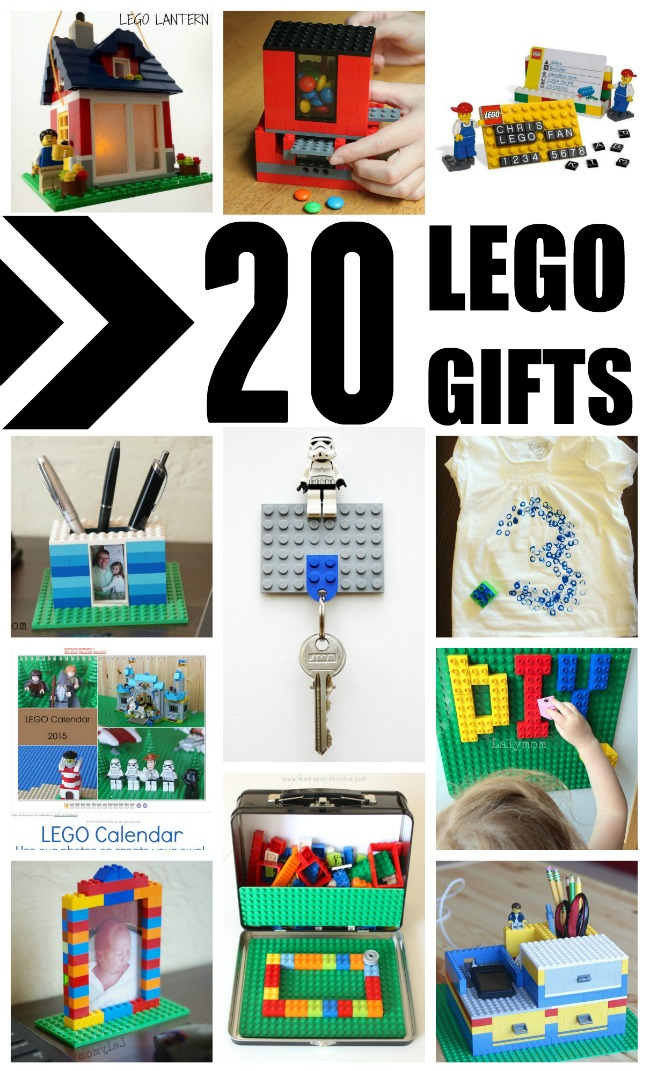 LEGO WEEK! 20 Cool LEGO Gifts to Make and Build - Great ideas for LEGO Birthdays, Father's Day, Mother's Day and more!  #LEGO #birthday #kids #mothersday #fathersday #gift #giftidea #DIY #craft #craftsforkids