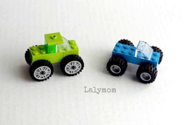 4 simple LEGO Trucks to build with kids - Tall Monster Truck and Short Monster Truck - Part of LEGO Week!