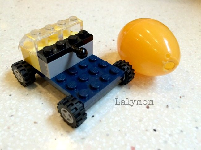 Cement Mixer made from LEGO and an Easter egg