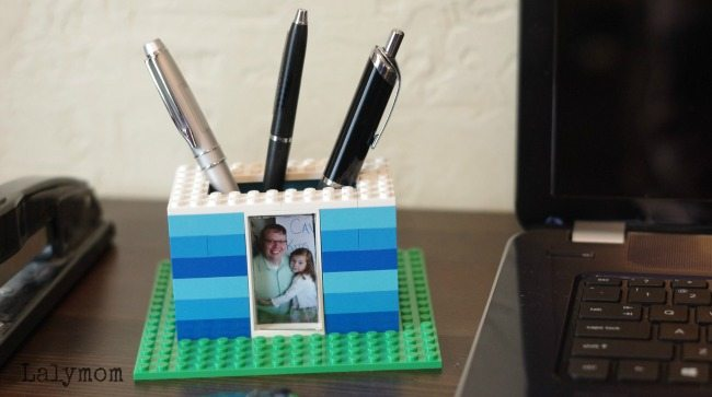 Cool LEGO Gifts for Dad - This DIY Pen Holder is Perfect for Father's Day!