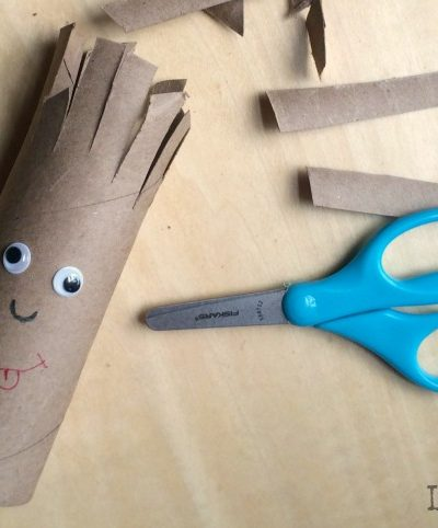 Easy cutting practice activity - From Fine Motor Fridays on Lalymom.com - What a cute and simple scissors activity!