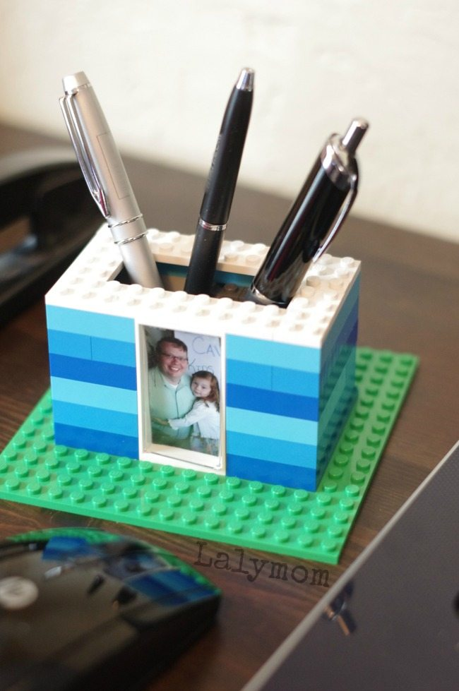 Kid Made Father's Day Gift - DIY Pen Holder Made from LEGO