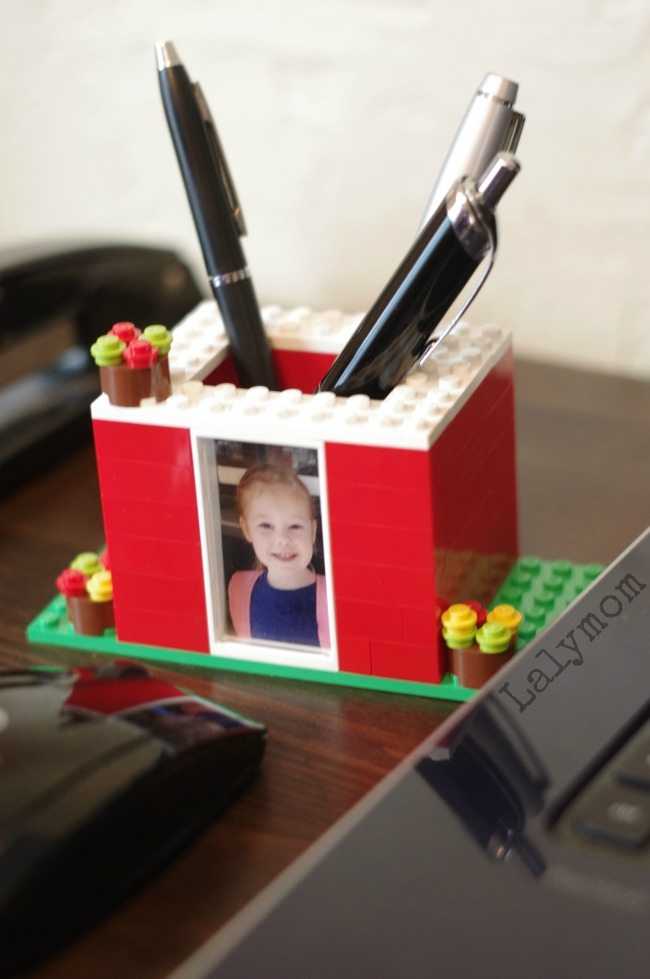 Kid Made Mother's Day Gifts Idea - LEGO DIY Pen Holder with Photo