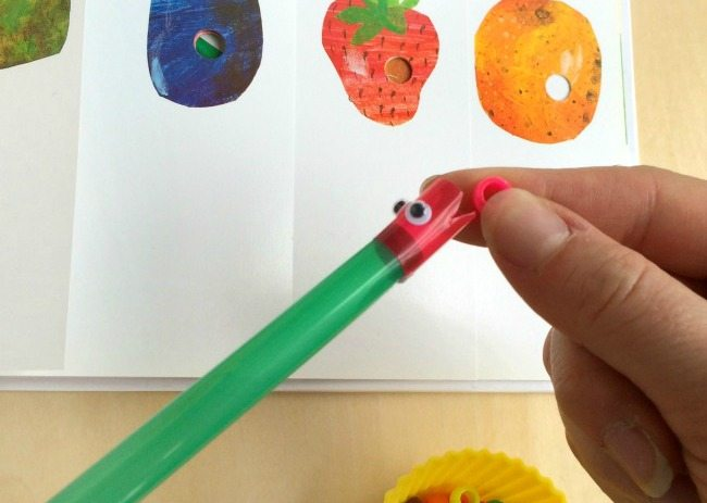 Very Hungry Caterpillar Book Extension Activity for Kids - Plus a review & giveaway of a new Eric Carle App! Perfect for Eric Carle Month!