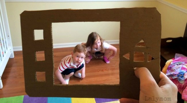 10 Hilarious Boredom Busters Using a Cardboard Tablet - Part of Craft Closet Boredom Buster Week on Lalymom!