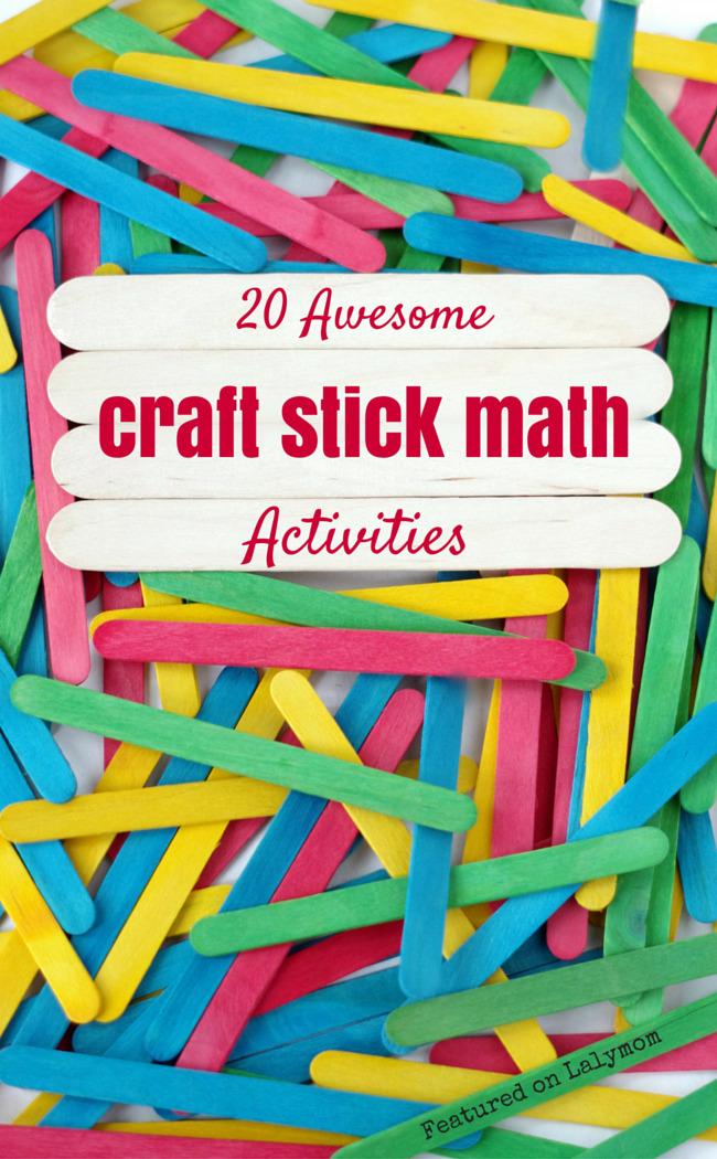 20 Fun Math Activities Using Craft Sticks