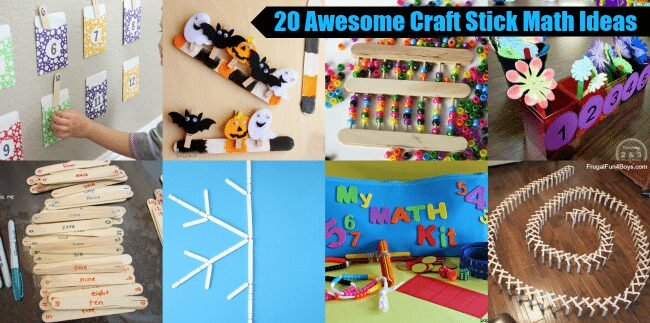 20 Awesome Craft Stick Math Ideas on Lalymom.com