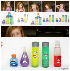 Emotions Glitter Bottles DIY Toys for Kids Inspired By Inside Out