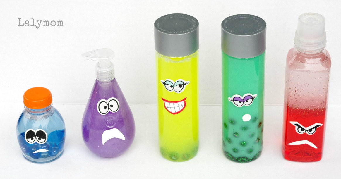 June Classroom Ideas ~ Emotions discovery bottles inspired by disney s inside out