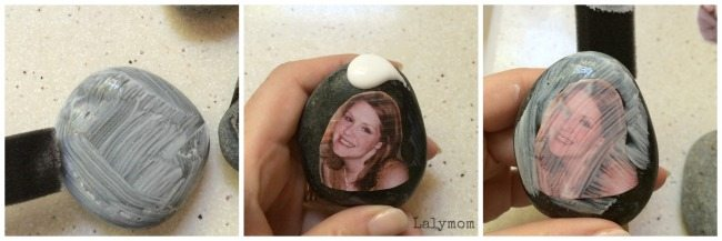 How to make story stones with family pictures