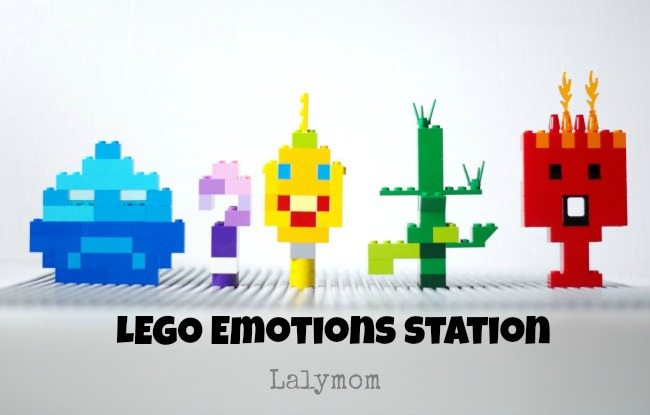 LEGO Emotions Station - Fun build idea to talk about emotions- Perfect for Disney's Inside Out