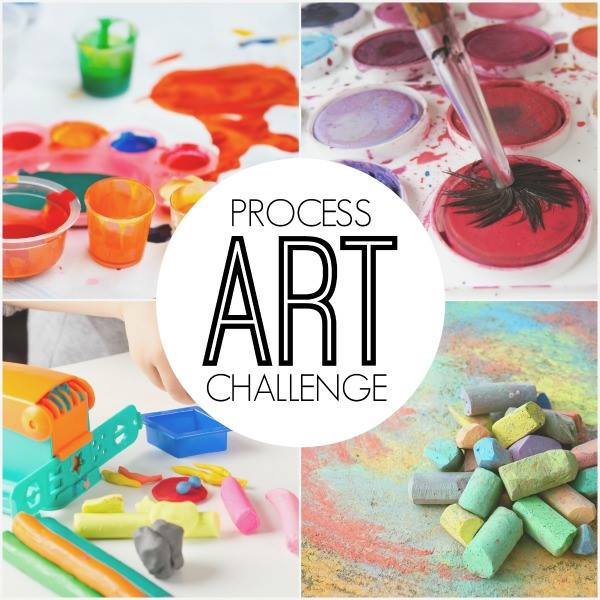Process Art Challenge - Ideas for Painting with Kids