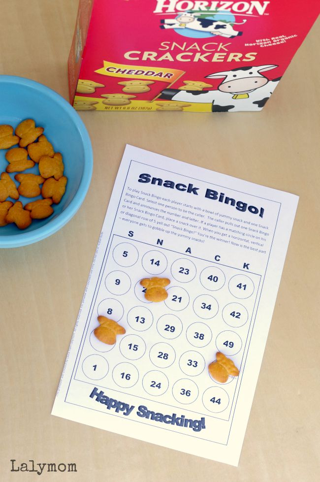 6 Page Printable Snack Games Pack - Fun Activities for Kids, Just Print and Play!