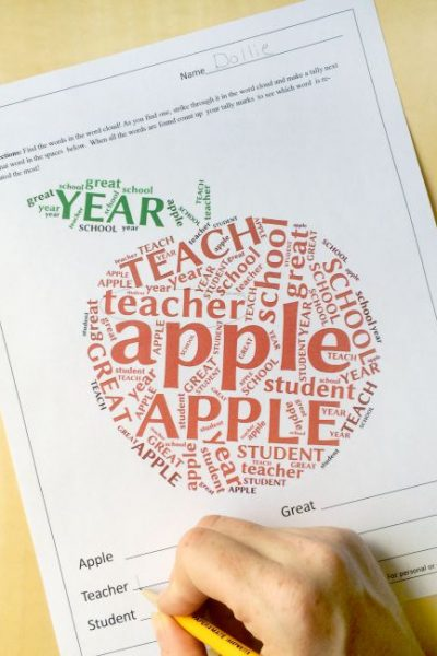 3 Word Cloud Back to School Printables