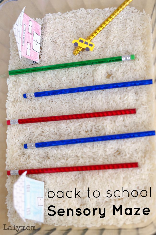 Back to School Sensory Maze from Fine Motor Fridays