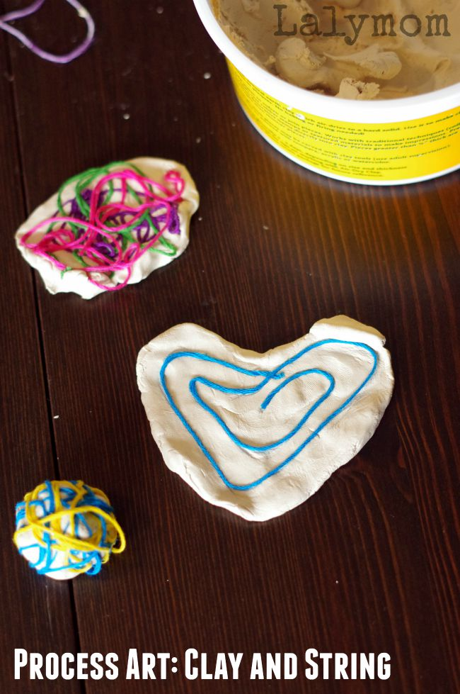 Clay Projects for Kids - Air Dry Clay and Colored String - LalyMom