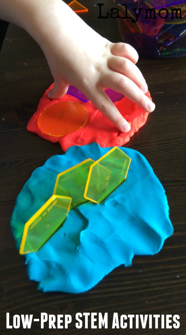 Easy quick STEM activities for kids. Great for older toddlers, preschoolers and kindergartners.
