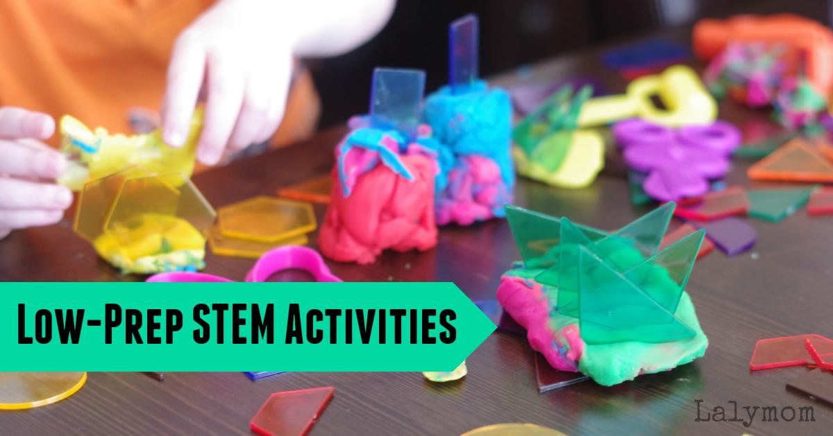 Low-prep, quick STEM activities for kids.