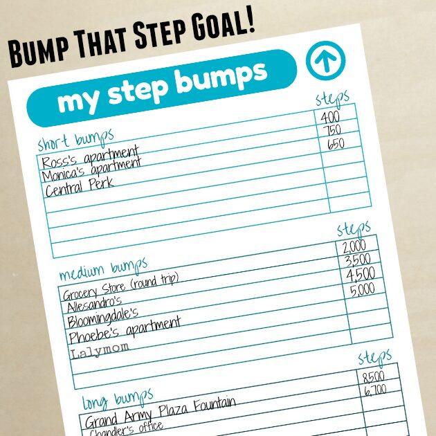 Reach 10000 Steps – Free Fitbit Step Bump Printable