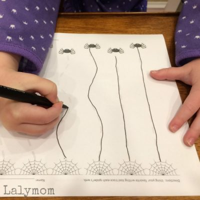 Silly Spiderwebs Halloween Writing Practice Activity - Free Halloween Printable on Lalymom