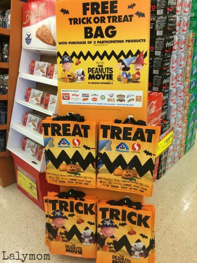 Super Fun Trick Or Treat Bags for the Peanuts Movie at Jewel! Fit all my groceries in it for the day too, bonus!