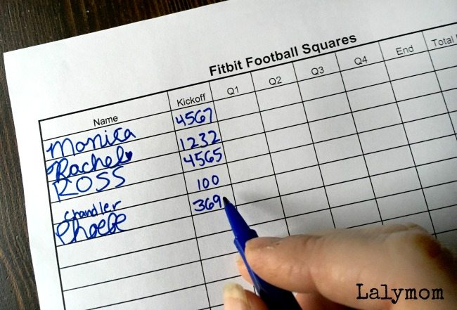 fitbit football squares A free printable to make sure you hit 10,000 steps!
