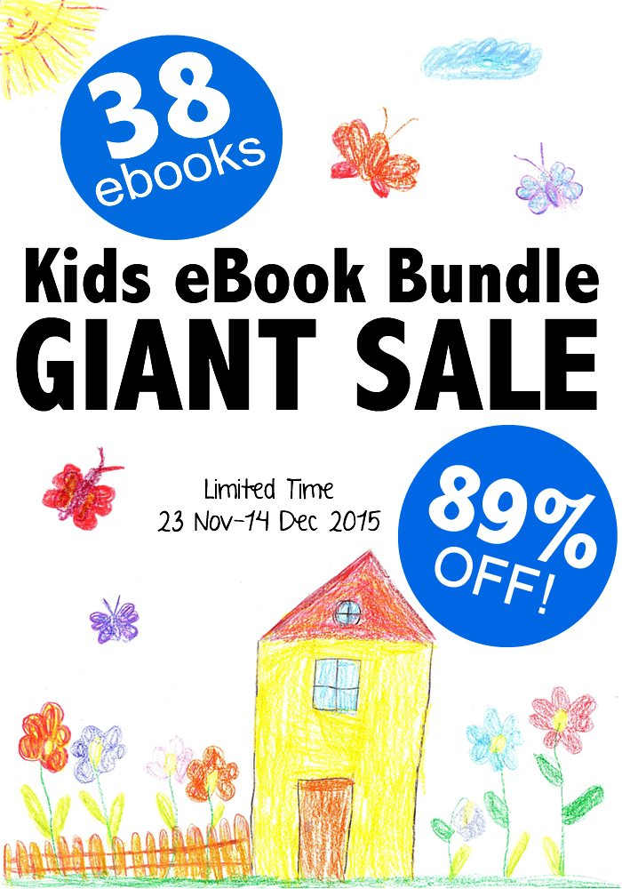 Huge Kids Activity eBook & Printable Pack Bundle - Awesome Flash Sale for 38 Titles at 89% off!