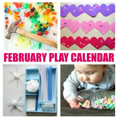 Free February Play Calendar - 29 Days of Craft and Activities for Kids
