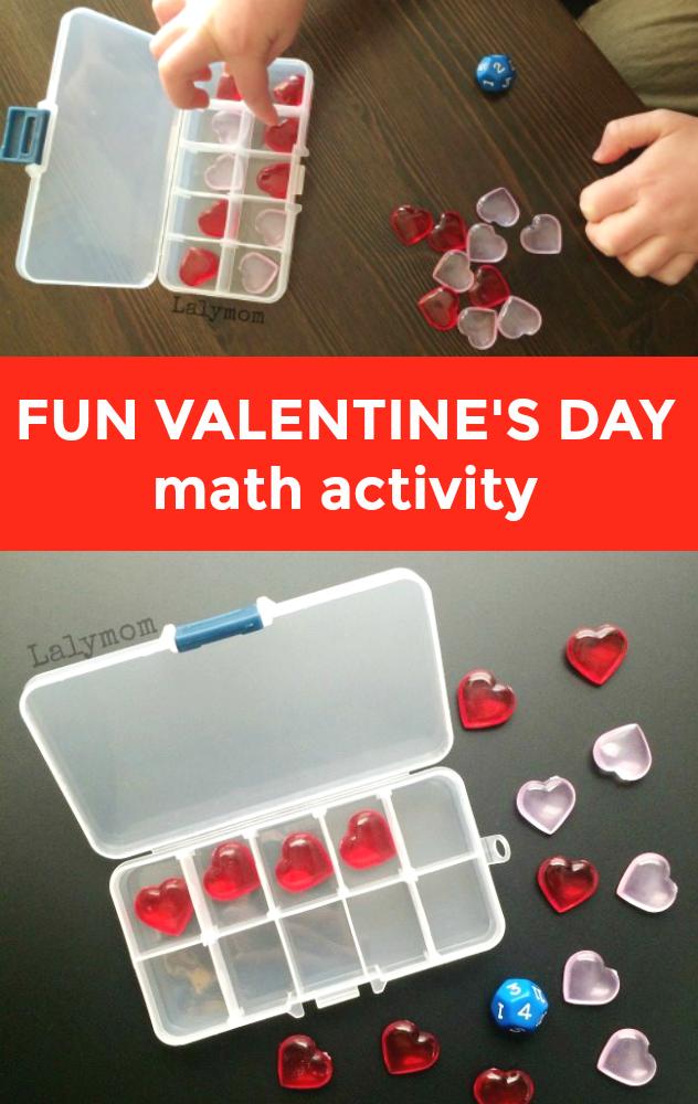 Fun Valentine's Day Math Activity for Kids - Great hands on way to explore ten frames #preschool #kindergarten #firstgrade #homeschool #classroom #valentinesday #math #mathgames #tenframe