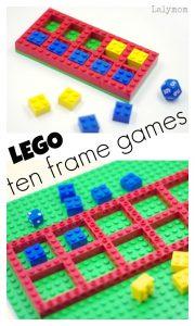 LEGO Math Games - Fun ideas for ten frame games for kids