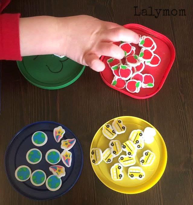 Sorting Mini Erasers